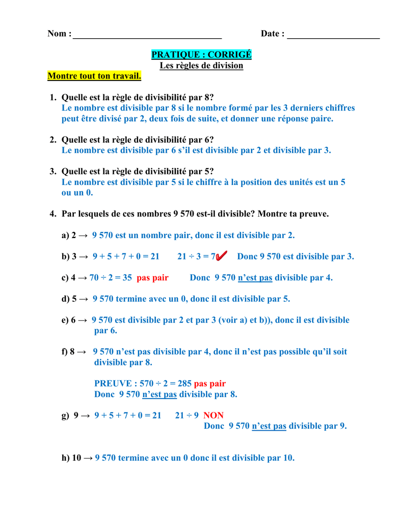 7 règles pour la datation