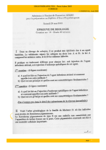 biologie 1 - concours