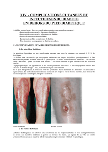XIV - COMPLICATIONS CUTANEES ET INFECTIEUSESDU