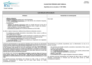Caisse nationale VALIDATION PERIODE AIDE FAMILIAL