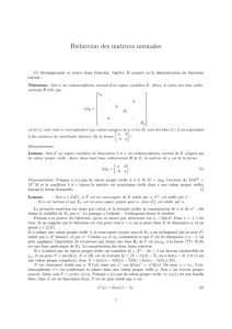 Réduction des matrices normales