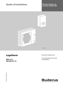 Guide d`installation Logatherm