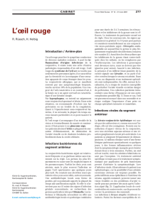 L`oeil rouge - Swiss Medical Forum