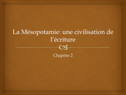 La Mésopotamie notes de cours