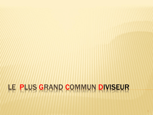 Le Plus Grand Commun Multiple