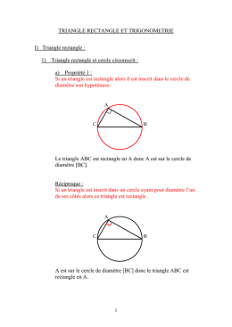 Cours Triangle rectangle et trigonométrie _prof