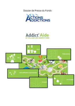 Dossier de Presse - Fonds Actions Addictions