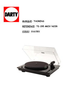 marque: thorens reference: td 295 mkiv noir codic: 3161501