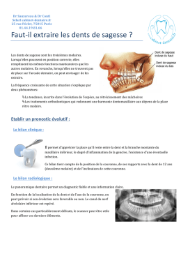 explication dents de sagesse PDF - cabinet