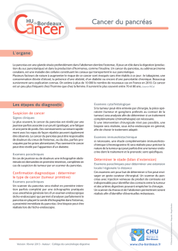 Traitement du cancer du pancréas Télécharger le document