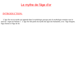 Le mythe de l`âge d`or