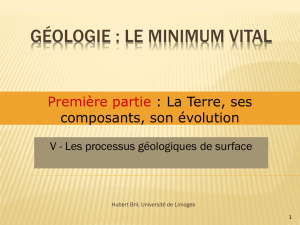 Géologie : le minimum vital