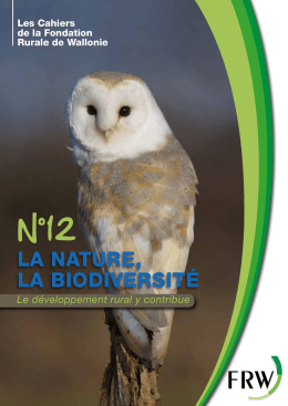 La nature, La biodiversité - Fondation Rurale de Wallonie