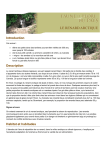 Introduction Description Habitat et habitudes