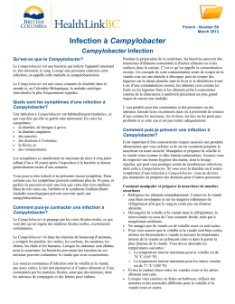 Campylobacter Infection - HealthLinkBC File #58
