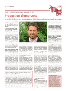 Production d`embryons