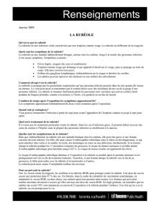 La Rubéole Renseignements (Rubella fact sheet)