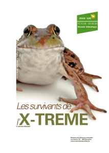 Les survivants de - Royal Belgian Institute of Natural Sciences