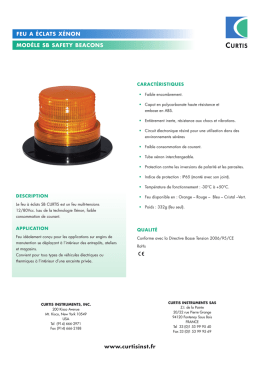 sb safety beacon - Curtis Instruments