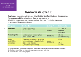 Syndrome de Lynch (2)