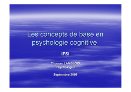 Les concepts de base en psycho cognitive