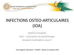 Physiopathologie des infections osseuses à Staphylococcus