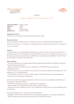Responsable Trade Marketing H/F