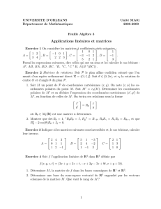 Applications linéaires et matrices