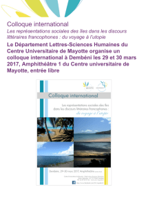 Colloque international - Centre Universitaire de Mayotte