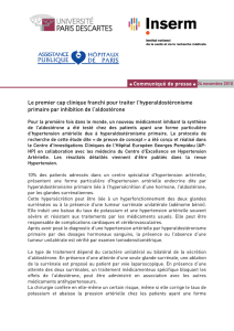 CP hyperaldostéronisme - L`Université Paris Descartes