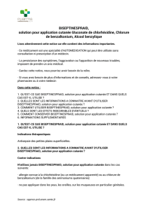 BISEPTINESPRAID, solution pour application cutanée Gluconate de
