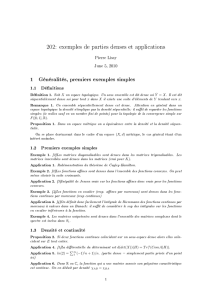 202: exemples de parties denses et applications