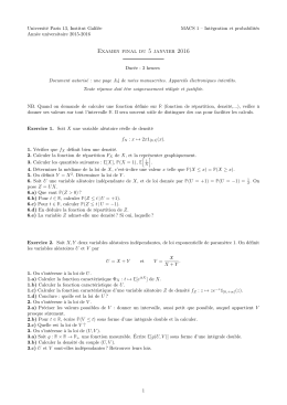 Examen - Université Paris 13