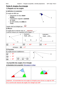 Partie D: Angles d`un triangle