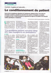 Le conditionnement du patient