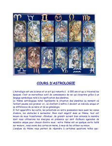 COURS D`ASTROLOGIE
