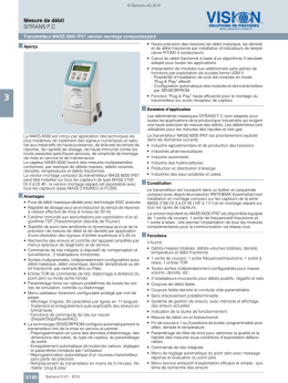 Catalogue FI01 2015 - Vision Solutions de Procédés