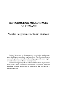Introduction aux surfaces de Riemann - IMJ-PRG