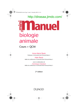 Mini Manuel Biologie animale 2e ed.