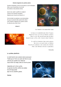 Poésies cm2 Univers galaxies planètes - Ecole Saint