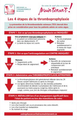 Les 4 étapes de la thromboprophylaxie