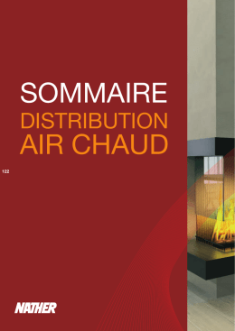distribution d`air chaud