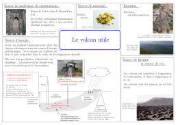 Le volcan utile