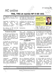 TRS, TRG et norme NF E 60-182