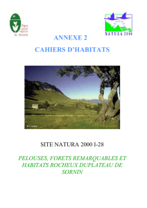 Document d`objectifs site Natura 2000 I 28