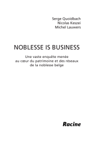 NobLeSSe iS buSiNeSS
