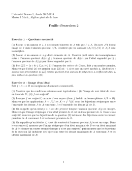 Feuille d`exercices 2