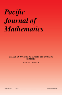 For screen - Mathematical Sciences Publishers