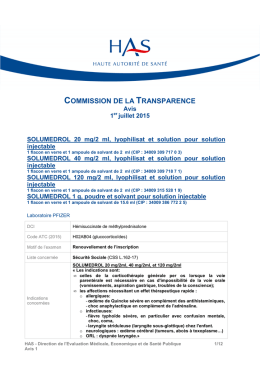 commission de la transparence