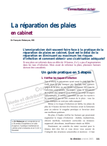 111-les plaies en cabinet - STA HealthCare Communications